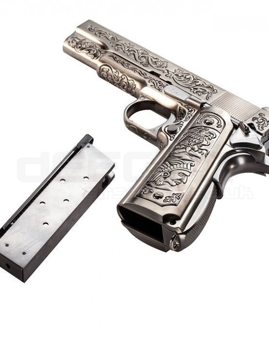 WE - M1911 - Silver - Druglord Edition -GBB