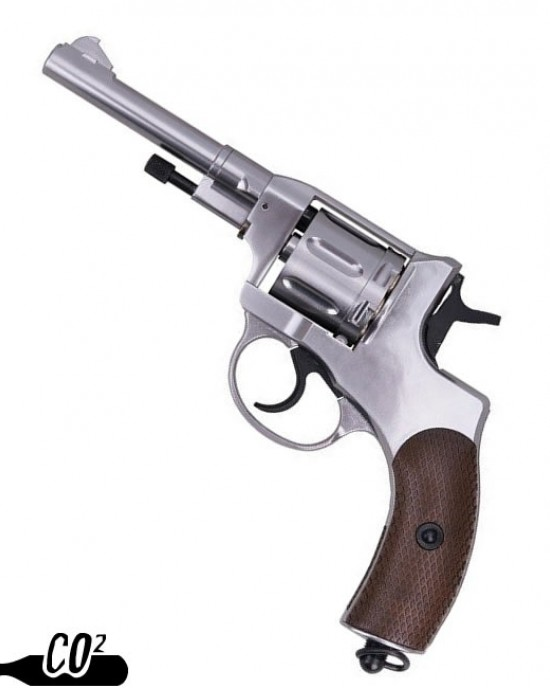 Gun Heaven - 721 Nagant M1895 - 4 inch - CO2 Revolver - Silver