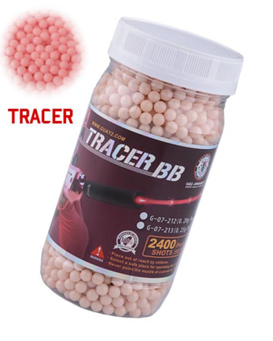 G&G - BB Tracer - 0,20g - 2400 rds - Rosu