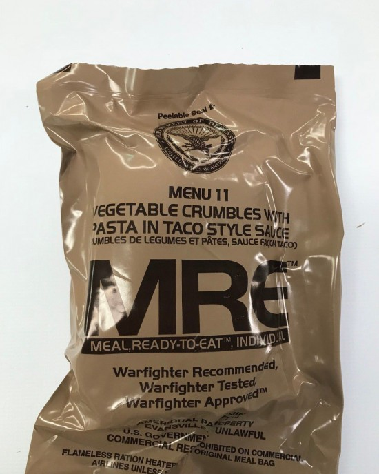 Ameriqual - MRE - Meal Ready to Eat - 2020 - Meniu 11 - Vegetable Crumbles with Pasta in Taco Style Sauce