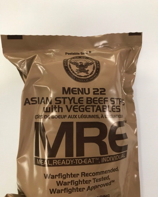 Sopacko - MRE - Meal Ready to Eat - 2018 - Meniu 22 - Asian Style Beef Strips with Vegetables