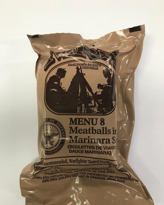 Ameriqual - MRE - Meal Ready to Eat - 2020 - Meniu 8 - Meatballs in Marinara Sauce
