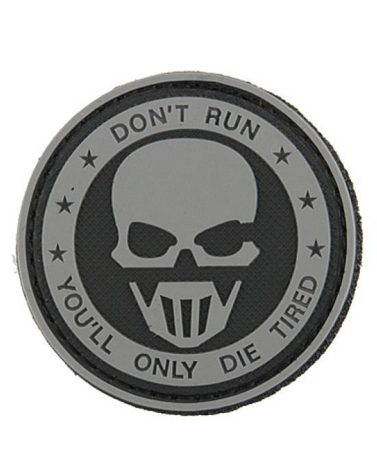 8F - Emblema 3D PVC - Don't Run - Diverse Culori