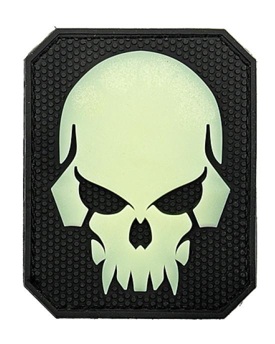 Emerson - Emblema 3D PVC - Pirate Skull - Fosforescent