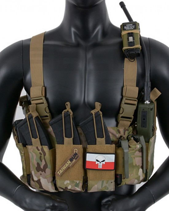 8F - Chest Rig - Open Top - Uliversal - Multicam