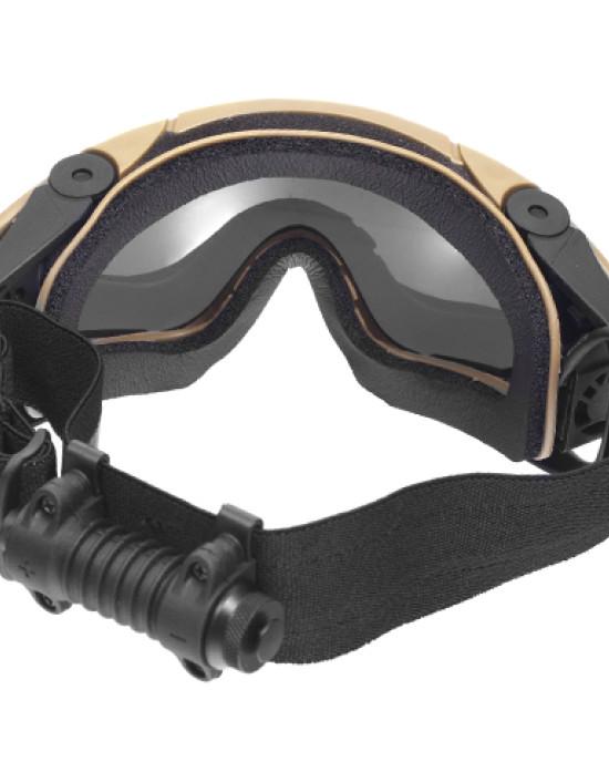 FMA - Ochelari Protectie - 2 Lentile - Ventilator - Casca - Coyote