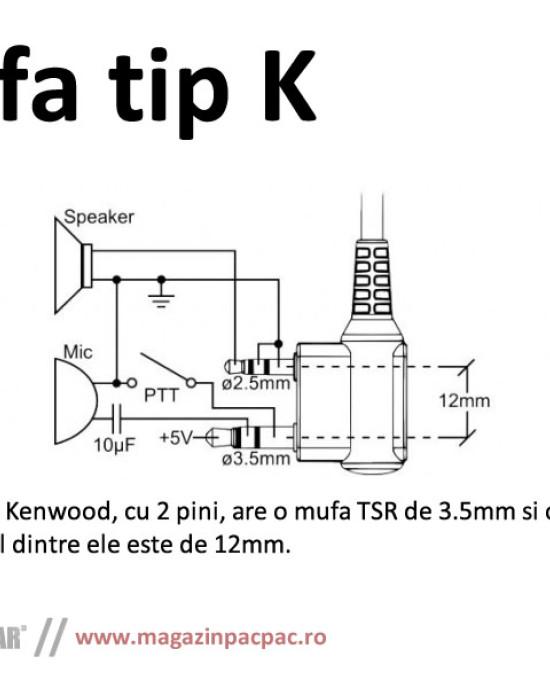 BaoFeng - PTT Speaker Mic - Kenwood Plug