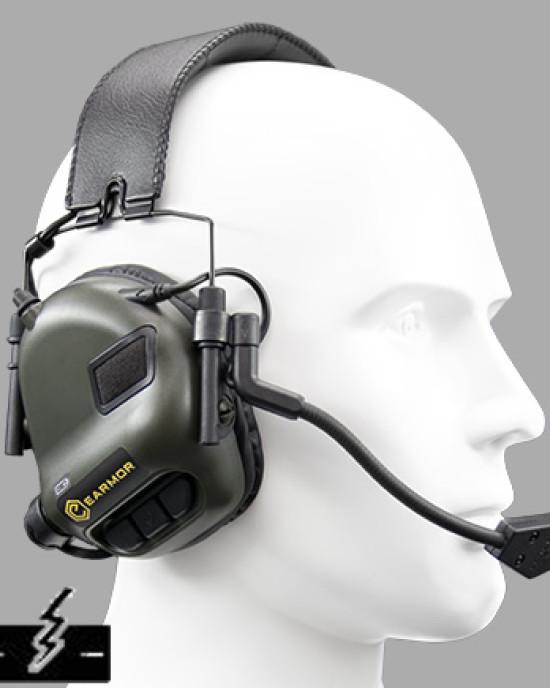 Earmor - M32 - Casti Audio - Sistem Protectie Activa - Military Plug